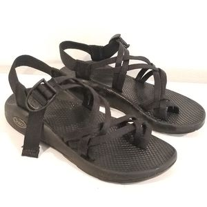 CHACO BLACK STRAPPY Sandals size 7
